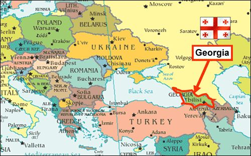 Georgia Map - Visa & Real Estate Lawyers in Armenia