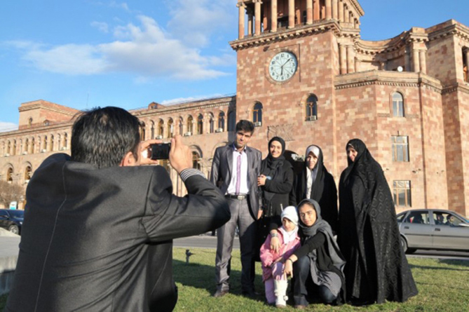 Tourist arrivals in Armenia